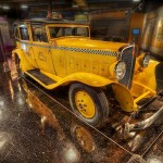1933 Model T Checker Taxi Cab from the Auburn Cord Duesenberg Museum by Glen Green ---8019-23rtmedwtmk