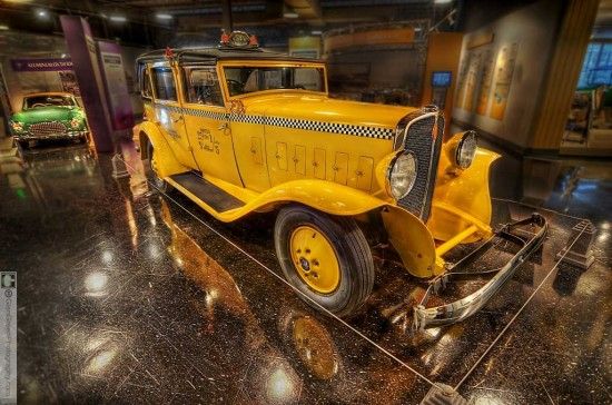 1933 Model T Checker Taxi Cab from the Auburn Cord Duesenberg Museum by Glen Green —8019-23rtmedwtmk